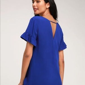 Lulus Chic of Perfection Royal Blue Shift Dress